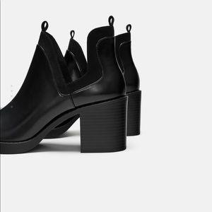 Zara Ankle Cutout Boots